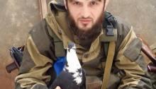 Abdul Hakim Shishani Of Ajnad Kavkaz Photographed With A Pigeon