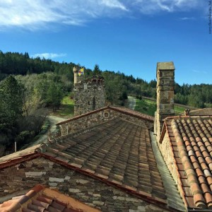 Rooftop of Castello di Amorosa