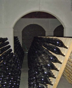 Champagne caves at Gloria Ferrer Caves and Vineyards