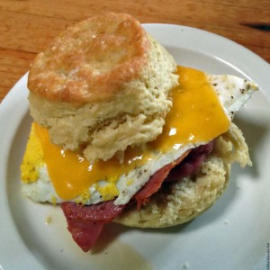 Breakfast at Pine State Biscuits - Portland, Oregon