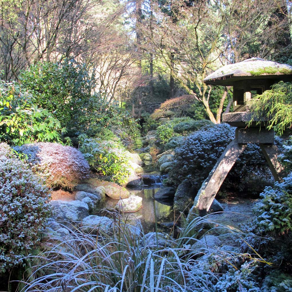 Portland Japanese Garden in winter - Portland, Oregon