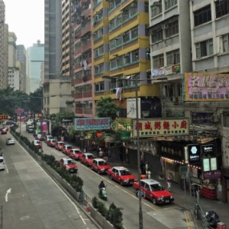 Line of taxis - Hong Kong, China
