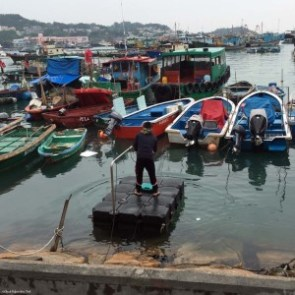 Fisherman heading to his boat - Cheung Chau, Hong Kong, China