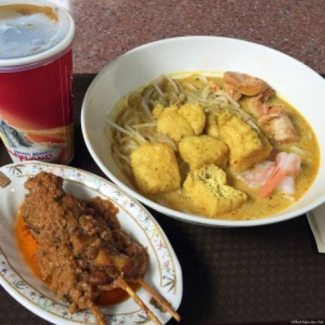 Laksa and chicken satay at Hong Kong Disneyland - Hong Kong, China