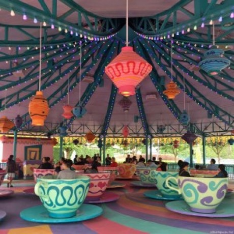 Mad Hatter Tea Cups ride in Fantasyland - Hong Kong Disneyland, Hong Kong, China