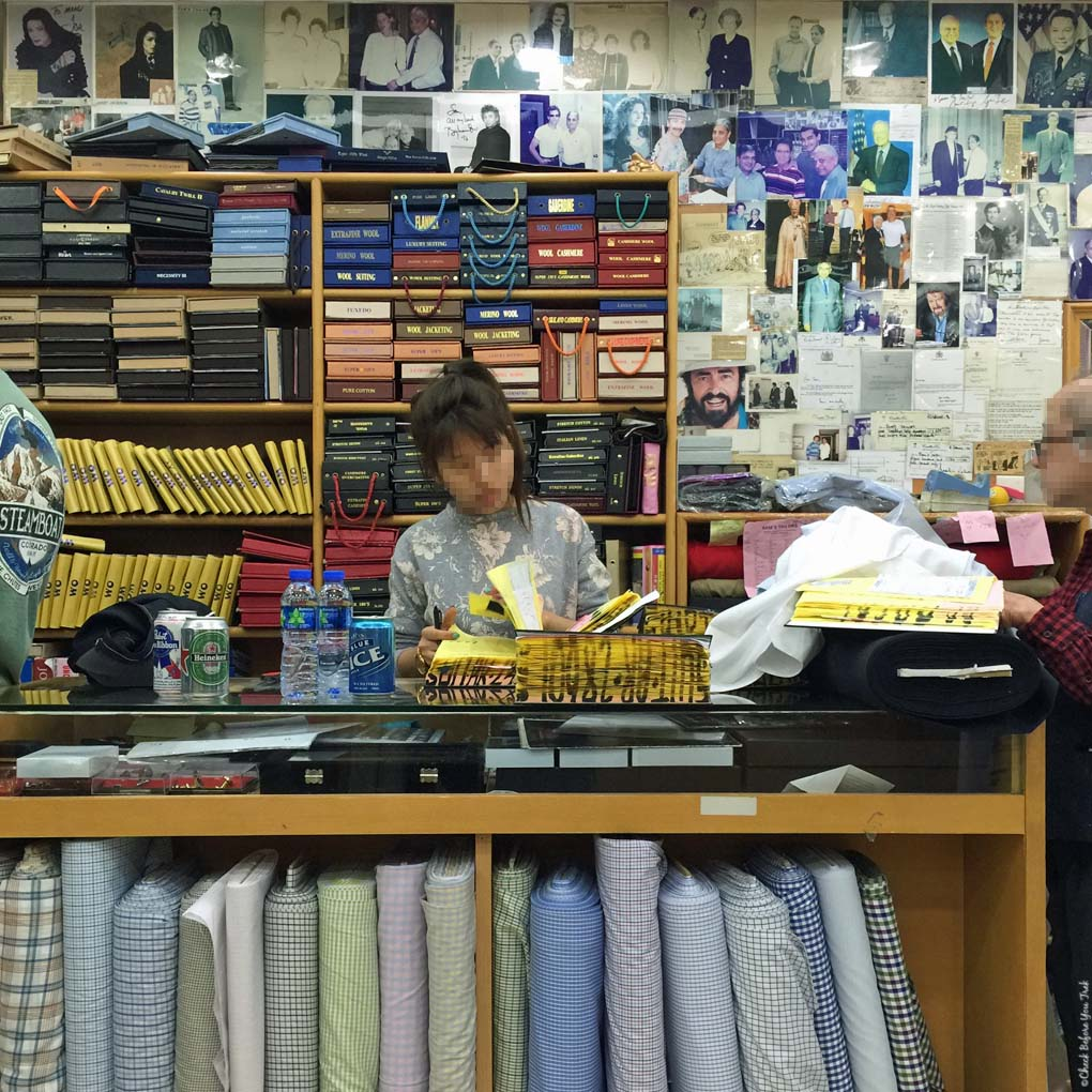 Inside Sam's Tailor - Tsim Sha Tsui, Hong Kong, China