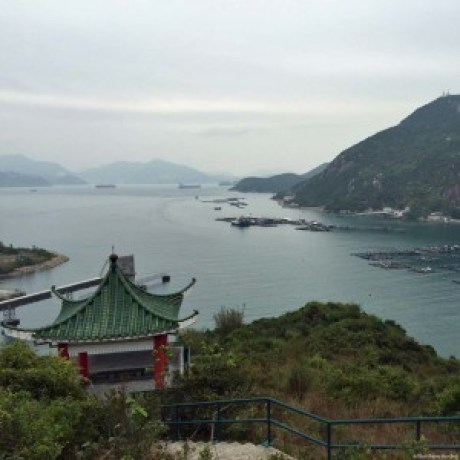 Hilltop Pavilion over looking Pichic Bay and Sok Kwu Wan, Lamma Island - Hong Kong, China