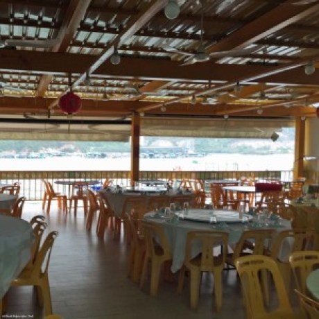 Restaurant with waterfront seating in Sok Kwu Wan, Lamma Island - Hong Kong, China