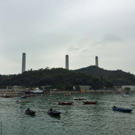 View of Lamma Power Station from Yung Shue Wan, Lamma Island - Hong Kong, China