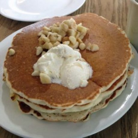 Banana macadamia nut pancakes at Big Island Grill - Kailua-Kona, HI
