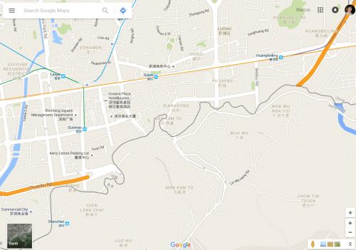Google Maps - Chuanbu Road in Shenzhen