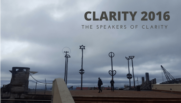 The speakers of clarity Credit Verity White