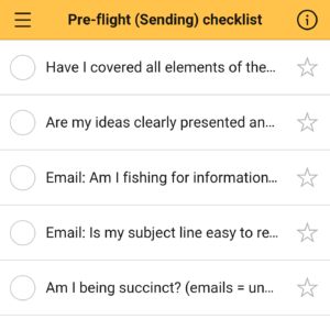 Checklist Legal Pre Sending Checklist Screenshot Nozbe