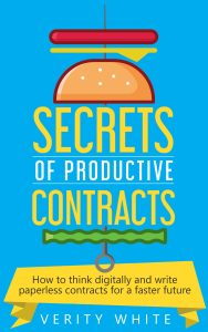 Secrets of Productive Contracts by Verity White Checklist Legal How to think digitally and write paperless contracts for a faster future