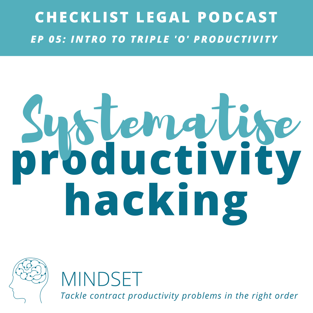 e05 Mindset -Checklist Legal Podcast with Verity White 2018