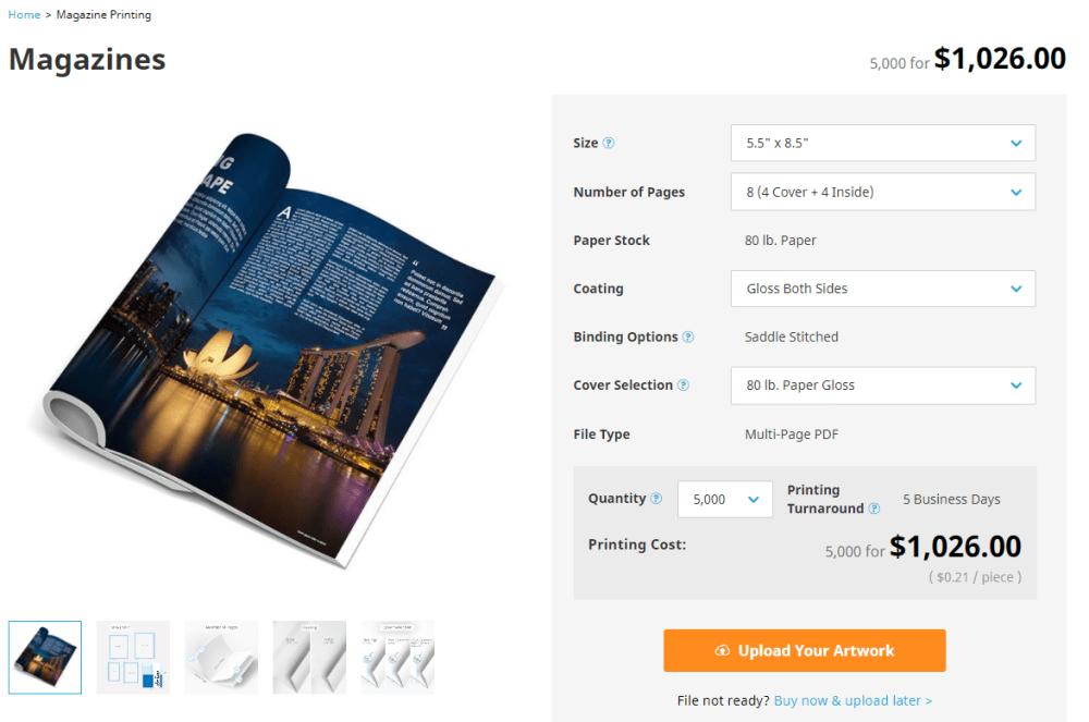 cheapest magazine printing