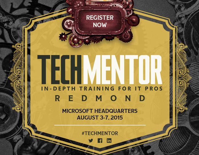 Speaking at TechMentor 2015 in Redmond