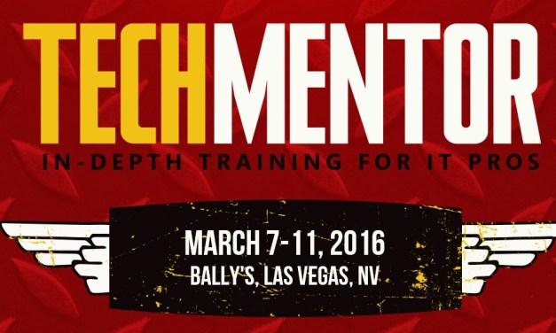 Speaking at TechMentor 2016 Las Vegas