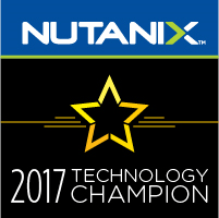 Nutanix Technology Champion #NutanixNTC for 2017 #MVPHour