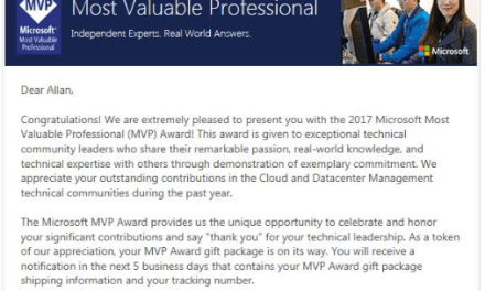 Congratulations to Allan Rafuse for getting his Microsoft MVP Award today #MVPBuzz #MVPHour