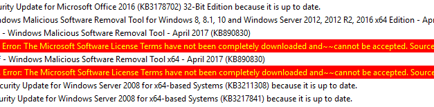 WSUS – Microsoft Software License Terms have not been completely downloaded #SCCM #MVPHour