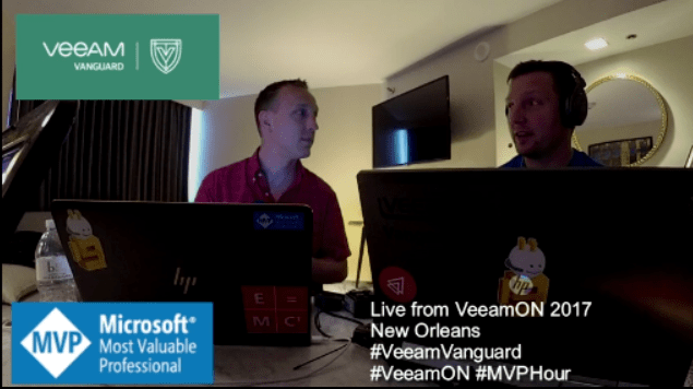 Interview with an MVP Episode 62 – Live from New Orleans – #VeeamON Pre-Show #MVPHour