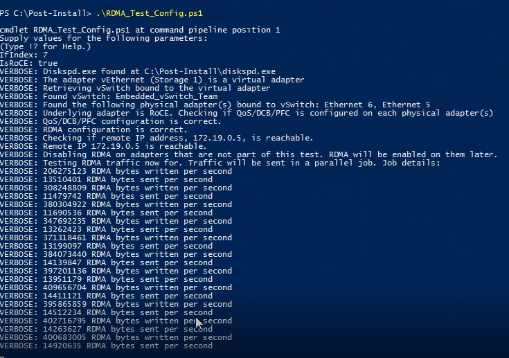 Deploying Storage Spaces Direct – Part 37 – Test-RDMA.PS1 #PowerShell #StorageSpacesDirect