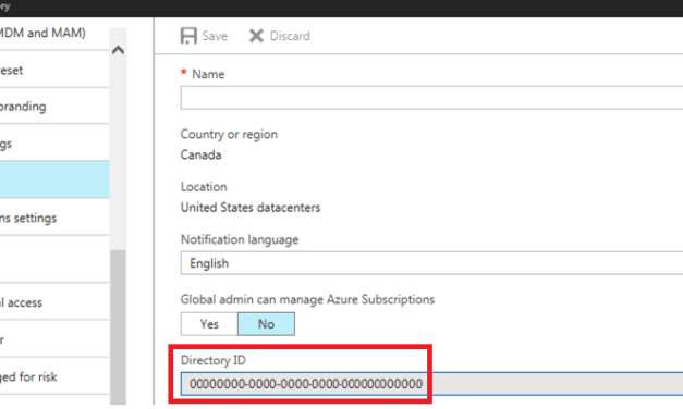 Retrieving your Azure AD Tenant ID Display Name and Guid/ObjectID
