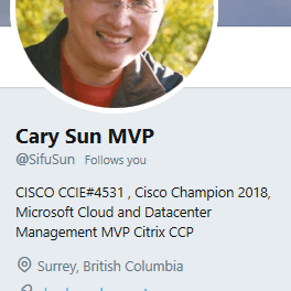 Congratulations to Cary Sun our 6th MVP on CheckyourLogs #MVPBuzz @MVPAward