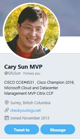 Congratulations to Cary Sun our 6th MVP on CheckyourLogs #MVPBuzz @MVPAward