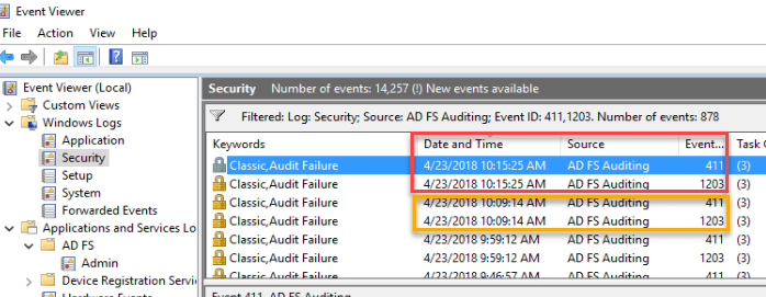 ADFS and AzureAD Account Lockouts – Part 1 | CheckYourLogs Net