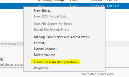 Enable Deduplication on Windows Server 2019 on #ReFS