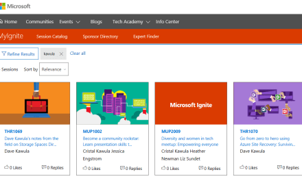 Session Catalog is live for Microsoft Ignite – .@MS_Ignite #MVPHour #TeamKawula