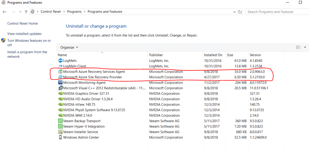 The Case cleaning Azure Site Recovery and Hyper-V Replica on