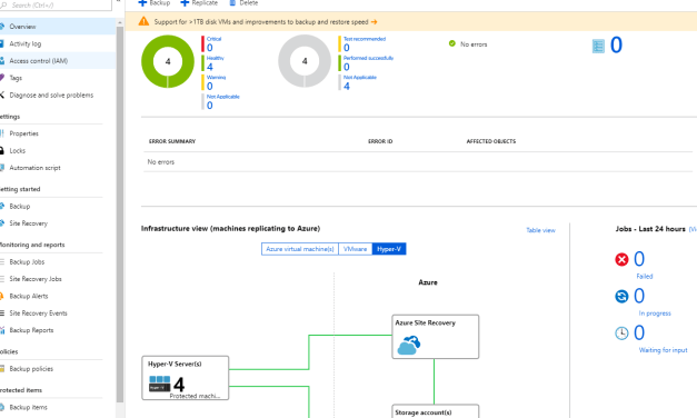 Protecting your Virtual Machines with Azure Site Recovery from Windows Admin Center – #WindowsAdminCenter #AzureSiteRecovery