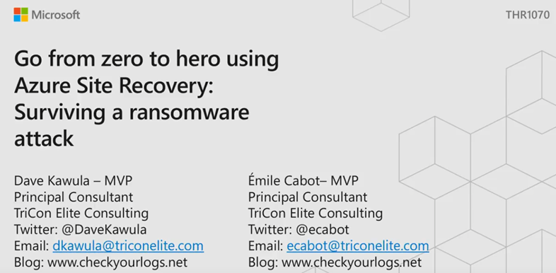 MSIgnite THR1070 – Go from Zero to Hero using Azure Site