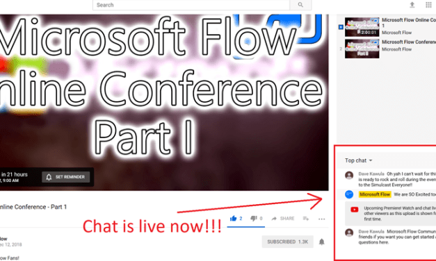 Join us for the first ever MVPDays Microsoft Flow Conference – #MSFLowConf #MicrosoftFlow #MVPHour