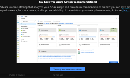 Is Azure Advisor Advice Worthwhile? Let's see…