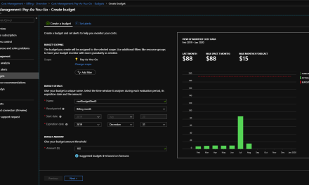 Creating an Azure Budget: A must for test-dev!