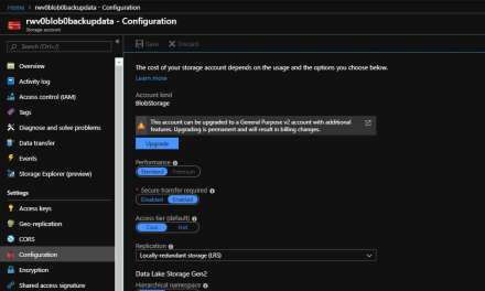 Thinking About Upgrading Azure Storage Account Configuration Options? Read This.