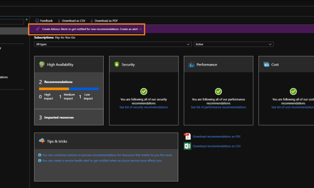 Creating Azure Advisor Alerts? Let's Do It!