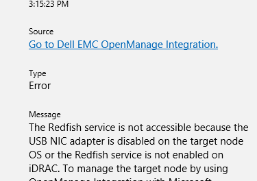 The Case of Redfish not available on Dell/EMC Open Manage Extension for Windows Admin Center – #WindowsAdminCenter #Dell #DellEMC