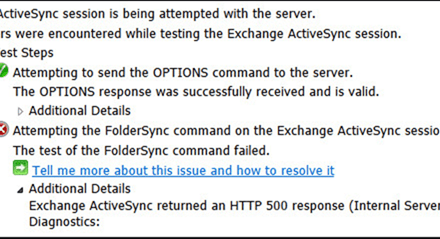 Troubleshooting Tips: Exchange ActiveSync returned an HTTP 500 response (Internal Server Error) #Microsoft #Exchange #ActiveSync #Troubleshooting #mvphour
