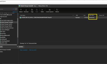 Using Azure Storage Explorer to remove unattached VM disks