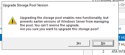The Case of Upgrading a Storage Pool from Server 2012 R2 to Server 2019 – Clean Install