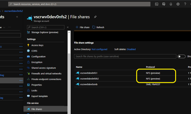 Azure Files now offering NFS 4.1 in Preview