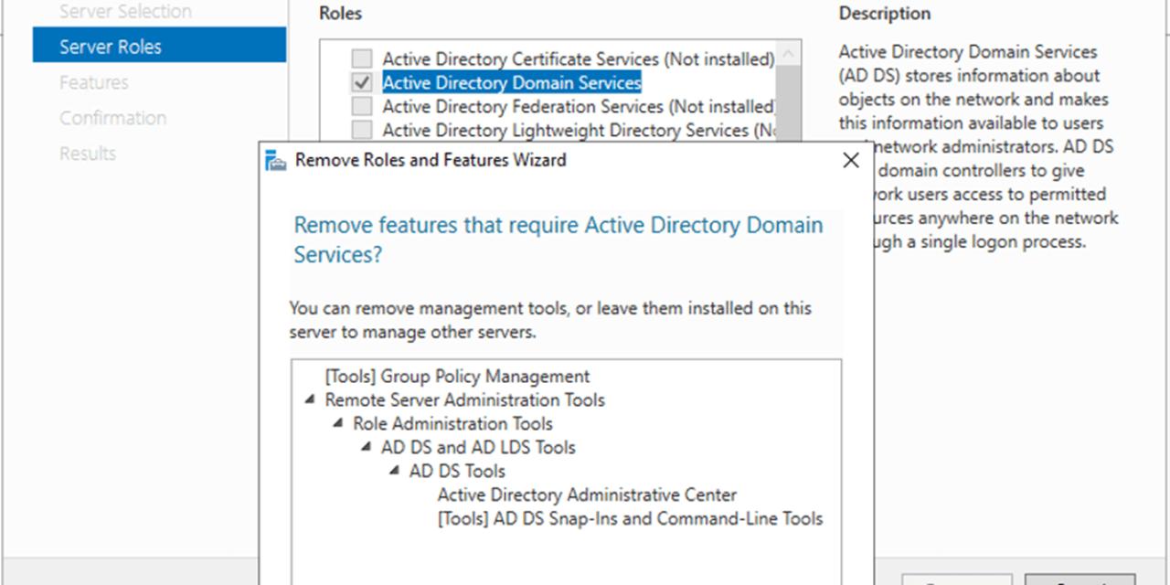 How to Demote Microsoft Windows Server 2019 Domain Controller Virtual Machine at Azure