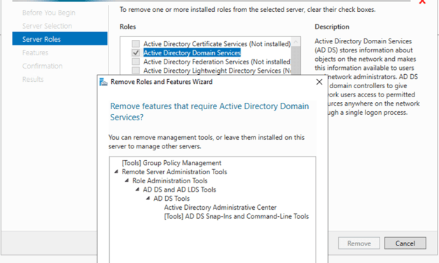 How to Demote Microsoft Windows Server 2019 Domain Controller Virtual Machine at Azure