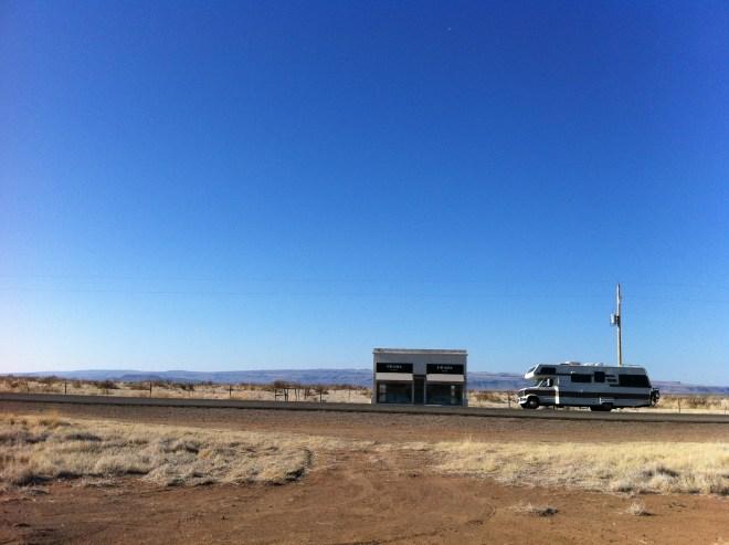 Cheddar Yeti One. The Lazy Daze in Marfa, TX