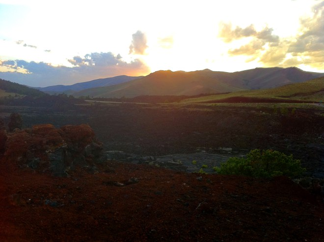 Sunset at the Craters of the Moon NP, Idaho
